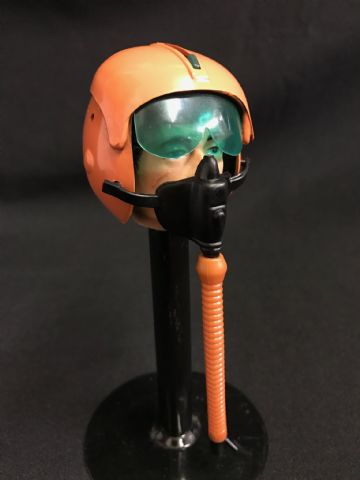 ELITE BRIGADE - Helmet: Orange Pilot with Oxygen Mask & Hose - to fit Action Man Gi Joe